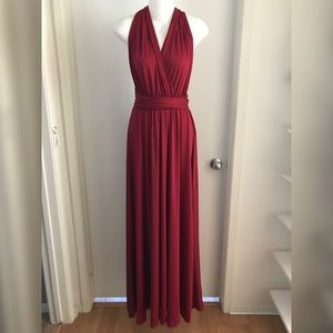 Burgundy Convertible Dress Gown